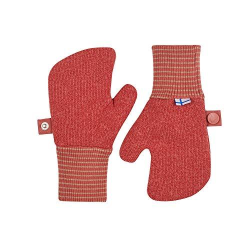 Finkid Nupujussi Knit Rot, Kinder Fausthandschuh, Größe M - Farbe Rose