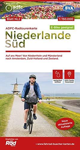 ADFC-Radtourenkarte NL 2 Niederlande Süd, 1:150.000, reiß- und wetterfest, GPS-Tracks Download: Auf an Meer! Von Niederrhein und Münsterland nach Amsterdam, Zuid-Holland und Zeeland