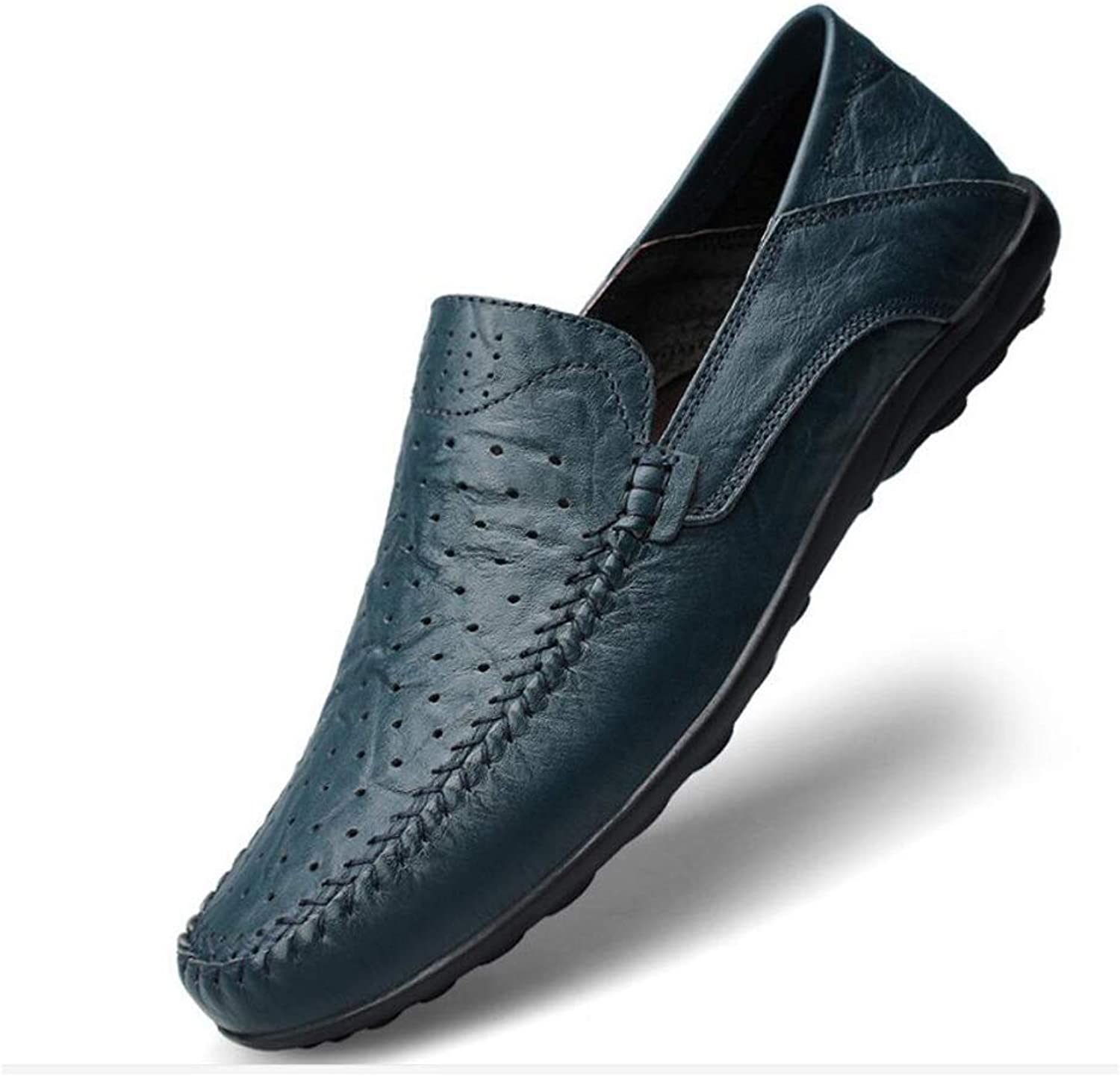 FuweiEncore Men's Comfort Loafers Leather Spring Summer   Autumn Comfort Loafers & Slip-Ons Walking shoes, running shoes, breathability business dress shoes (color   As shown, Size   One size)