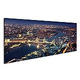 Bild Bilder auf Leinwand London bei Nacht mit städtischen
