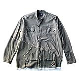 GREG LAUREN×PAUL&SHARKグレッグローレン シャツジャケット 【正規取扱店舗販売品】 (サイズM(着丈76、身幅50、肩幅55、袖丈65)) (サイズM(着丈80、身幅58、肩幅50、袖丈64))