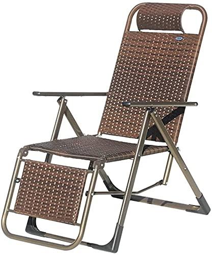 Patio Lounge Sillón Silla de salón Lazy Lounge Silla Almuerzo Sillón Silla de mimbre Silla de almuerzo Break Beach Silla y sillón reclinable portátil y silla de cubierta (27.5 * 22.8 * 41.7 pulgadas)