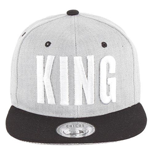 JOHNNY CHICOS Snapback King & Queen Grau, Größe:One Size;Farbe:King Grey