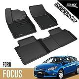 3D MAXpider Ford Focus 4 2018-2020 Tapis de Sol en Caoutchouc pour Voiture Auto Tous Temps Antidérapant Imperméable Recouvrement Total