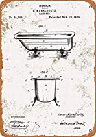 バスタブ 金属板ブリキ看板警告サイン注意サイン表示パネル情報サイン金属安全サイン