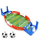 JDYDDSK Mini Tablero de fútbol Arcade Game Game Game Finger Battle Athletic Soccer Juego Power Thot Football Skills Suelo Board Juego para niños Adultos Mesa de fútbol,2 balles,S