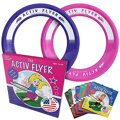 Product Image of the Activ Life Kids Flying Rings [Pink/Purple] Christmas Fun Gifts & Birthday...