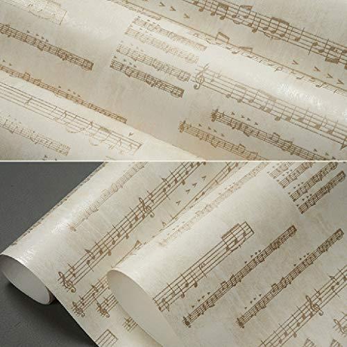 zyy Retro Tabs muziek symbool behang Puur papier voor woonkamer Piano kamer Muziek instrument winkel 10m X 0.53m/roll