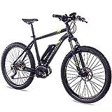 Chrisson, bicicleta eléctrica de 27,5pulgadas, 1.0con rendimiento Bosch, Line Motor, batería Power Pack 300y cambio de marchas Shimano Acera 3000, negro, 48cm