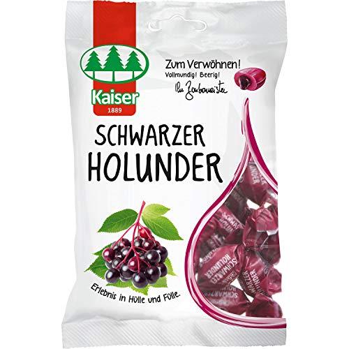 8 Beutel Kaiser Schwarzer Holunder a 100g Bonbons einzeln gewickelt