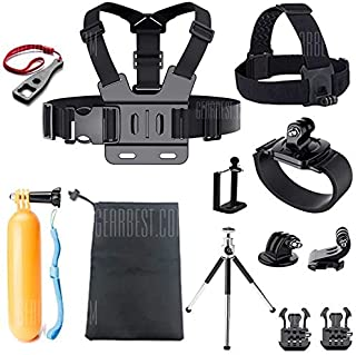 Accessories Set Support for GoPro Case Chest Belt Head Mount Strap for GoPro Hero 6/5/4/3/2/EKEN/SJ5000X Kit
