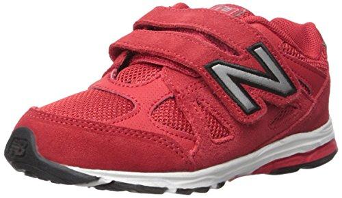 New Balance KV888V1 Infant Running Shoe (Infant/Toddler), Red/Black, 23 XW EU