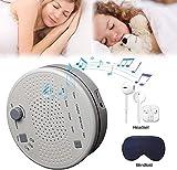 White Noise Machine Klangmaschine zum Schlafen Entspannen für Babys Mit Kopfhörern und Augenbinde 9 Beruhigende Hochpräzise Naturklänge für Zuhause Büro Baby & Reisen