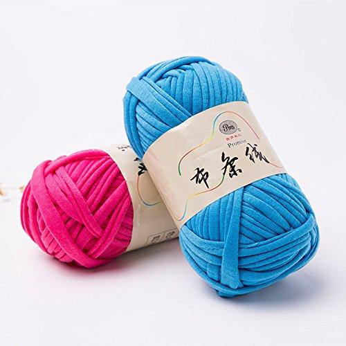 preliked Hand-Knit Woven Thread Thick Basket Blanket Braided DIY Crochet Cloth Fancy Yarn (Light Pink)
