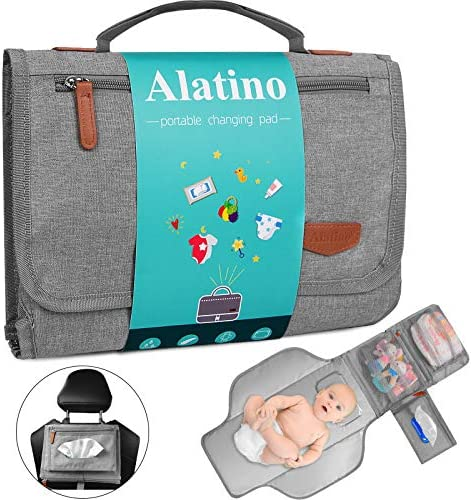 Portable Diaper Changing Pad for Baby Detachable Travel Changing Pad with Baby Wipes Pocket product image