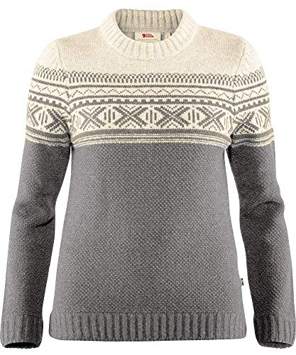 FJALLRAVEN Övik Skandinavian Sweater W Damen, Damen, Trikot, 89908, grau, XXS
