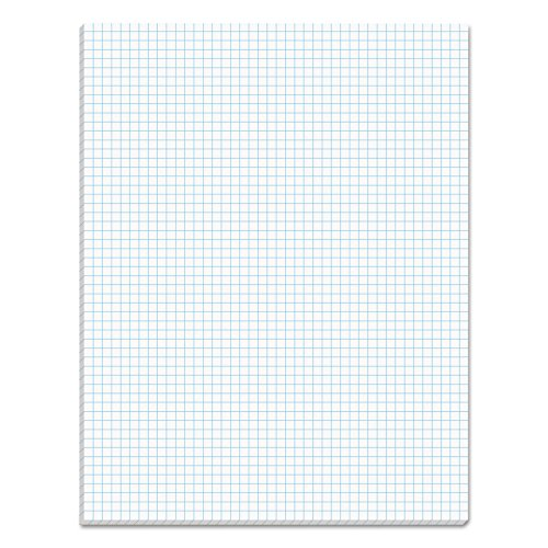 TOPS Quadrille Pad, Gum-Top, 8-1/2 x 11 Inches, Quad Rule , White Paper, 50 Sheets per Pad (33051) 50 Sheet White Pad