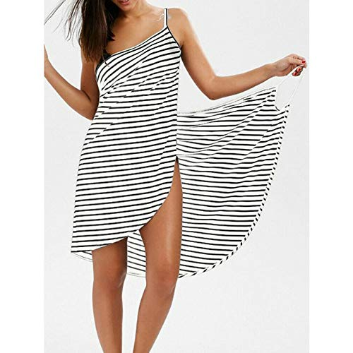 IAMZHL Talla Grande Toalla Textil para el hogar Batas de baño para Mujer Vestido de Toalla con Rayas usables Secado rápido Playa SPA Ropa de Dormir mágica Dormir-WHITE-5-4XL
