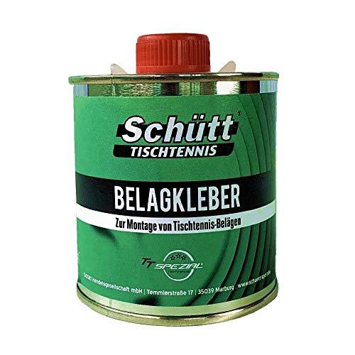 Schütt-Tischtennis Belagkleber Pinseldose (250 ml) - Kleber für Tischtennis Beläge | Lösungsmittelhaltig | TT-Spezial