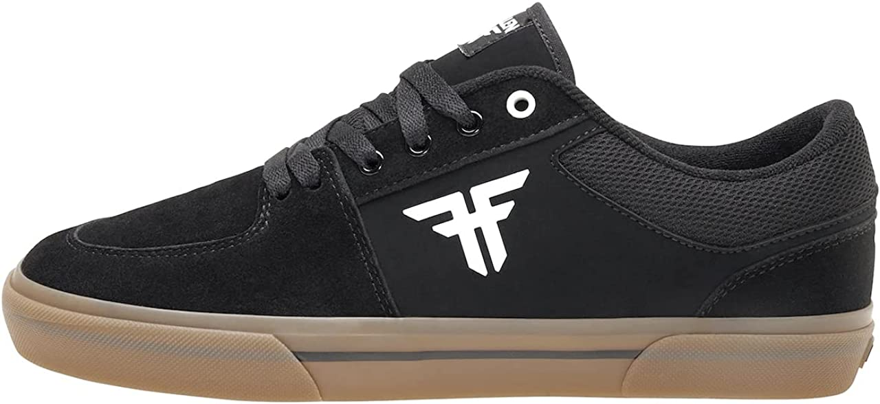 Fallen Men's Limited time trial price Patriot Shipping included Vulcanized Black Shoes Skate Gum White 10