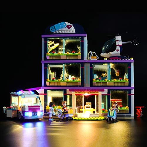 LIGHTAILING Jeu De Lumières pour (Friends L'hôpital d'Heartlake City) Modèle en Blocs De Construction - Kit De Lumière A LED Compatible avec Lego 41318(Ne Figurant Pas sur Le Modèle)