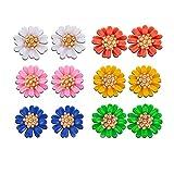 INTVN Pendientes de margarita Señoras joyas lindas joyas decorativas pendientes de lujo encanto damas 6 colores