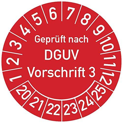 50 Stück UVV Prüfplaketten Geprüft nach DGUV V3 30mm früher BGV A3 BGVA3 10846