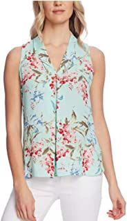 Vince Camuto Inverted-Pleat Top Aqua ICE XSmall