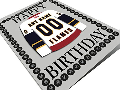 Englisch Eishockey Premier League EPL Kühlschrank Magnet Geburtstag Karten – Jeder Name, beliebige, jedes Team., Guildford Flames Ice Hockey Team Magnet Car, A5 Fridge Magnet Greeting Card