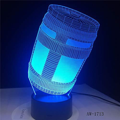 BFMBCHDJ Chug Jug 3D LED Baterías de la lámpara Luz de noche alimentada Personalizar 7 colores Decoración Cambios Light Show Kids Gift
