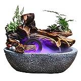 Fuente de Agua Fuente de escritorio de la fuente de escritorio de la fuente natural del paisaje Fuente de escritorio de la oficina con los artes y los regalos de la decoración del atomizador 32 × 20