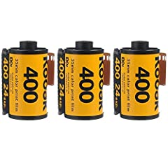 You will receive 3 rolls Daylight-Balanced Color Negative Film ISO 400/27° in C-41 Process Rich Saturation, Optimized Skin Tones Cold stored film gives an awesome vintage look