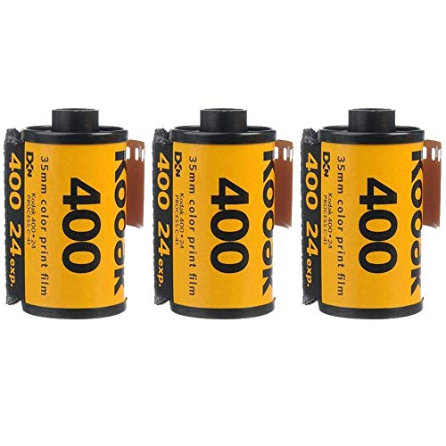 3 Rolls Kodak UltraMax 400 35mm Film GC24 135-24 Exp Gold Color Print