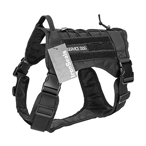 IronSeals Tactical Service Dog Vest Military Patrol K9 Hundegeschirr Molle Hundeweste Geschirr mit Griffen