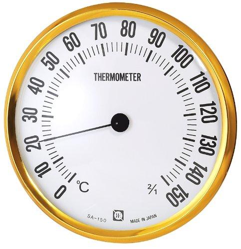クレセル 乾式サウナ用温度計 壁掛け用 直径15cm SA−150