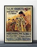 Vintage Decoracion De La Lona Barcelona EspañA 1935 PelíCula Pared Arte Pintura Impresiones Aceite Pinturas Mujer Cuadros Inicio Poster 40x60cm No Corrida De Toros Poster Poster 40x60cm