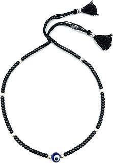 DARSHRAJ Jewellers 925 Sterling Silver(Chandi) 8 Silver Ball Evil Eye Nazariya Thread Anklet for Girls |Women