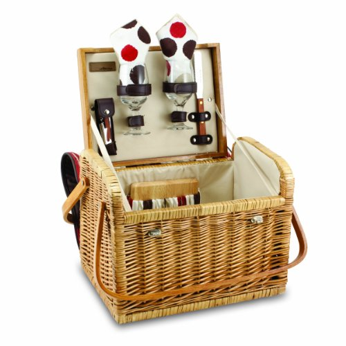 Discover Bargain Picnic Time Kabrio Picnic Basket with Wine and Cheese Service for Two