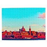 Malta Jigsaw Puzzle de 500 piezas para adultos niño de madera regalo recuerdo 20.5 x 15 pulgadas (FX03762)