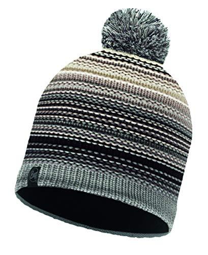 Buff Knitted und Polar Neper Mütze, Eleni Grey, One Size