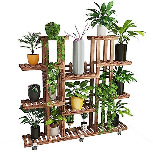 XIN Jardin Stand De Fleurs Bois Massif Au Sol Multicouche Intérieur Balcon Salon Stand De L'usine Gain De Place