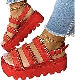 QDY-Corrimãos Sandálias de verão Sapatos Travesseiro Slipper Chinelo Aberto Macio acolchoado Extra Grosso com suporte em Arco para UMA caminhada confortável Branco, Vermelho, Preto, marrom