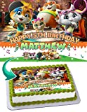 Cakecery 44 Cats Edible Cake Image Topper Personalized Birthday Cake Banner 1/4 Sheet