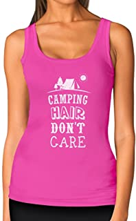 Camping Hair Don't Care Funny Camping Gift Women Tank Top