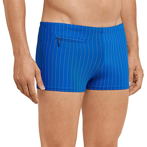 Schiesser Herren Aqua Bade-Retro Shorts, Blau (Blau 800), XXX-Large (Herstellergröße: 009)