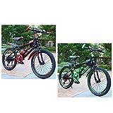 ROMYIX 20 pulgadas adultos bicicleta de montaña verde alto carbono bicicletas freno doble disco