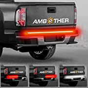 """AMBOTHER 5-Function 48""""/49"""" Truck Tailgate Side Bed Light Strip Bar 3528-72LED Waterproof IP67, Turn Signal, Parking, Brake, Reverse Lights for Trailer Pickup Jeep RV Van Dodge Ram Chevy GMC Red/White"""