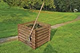 Gartenwelt Riegelsberger Wooden Composter 90 x 90 x H70 cm - Pressure Treated Brown