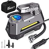 SKEY Compressore Portatile per Auto, gonfiatore Digitale a 12V DC, Pompa per Pneumatici 150 PSI con Luce...