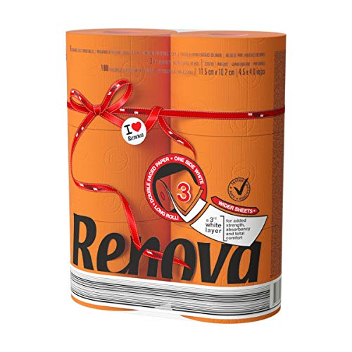Renova Luxury Scented Colored Toilet Paper 6 Jumbo Rolls 3-Ply-180 Sheets (Orange)